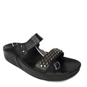 FitFlop Amsterdam Leather Studded  Slide Sandals